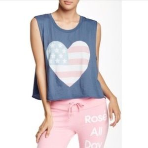 WILDFOX heart muscle tee L